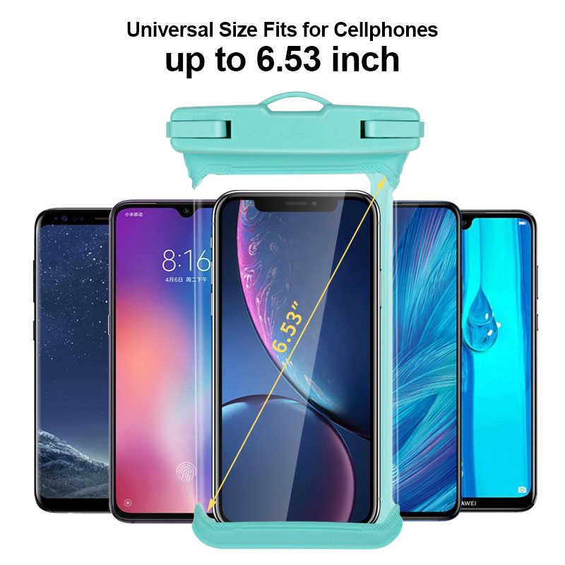 """Étui pour iphone X XR XS MAX 8 7 6 5 étui étanche universel pour téléphone portable 6.5 """"pour Huawei Xiaomi sac de téléphone sous-marin"""