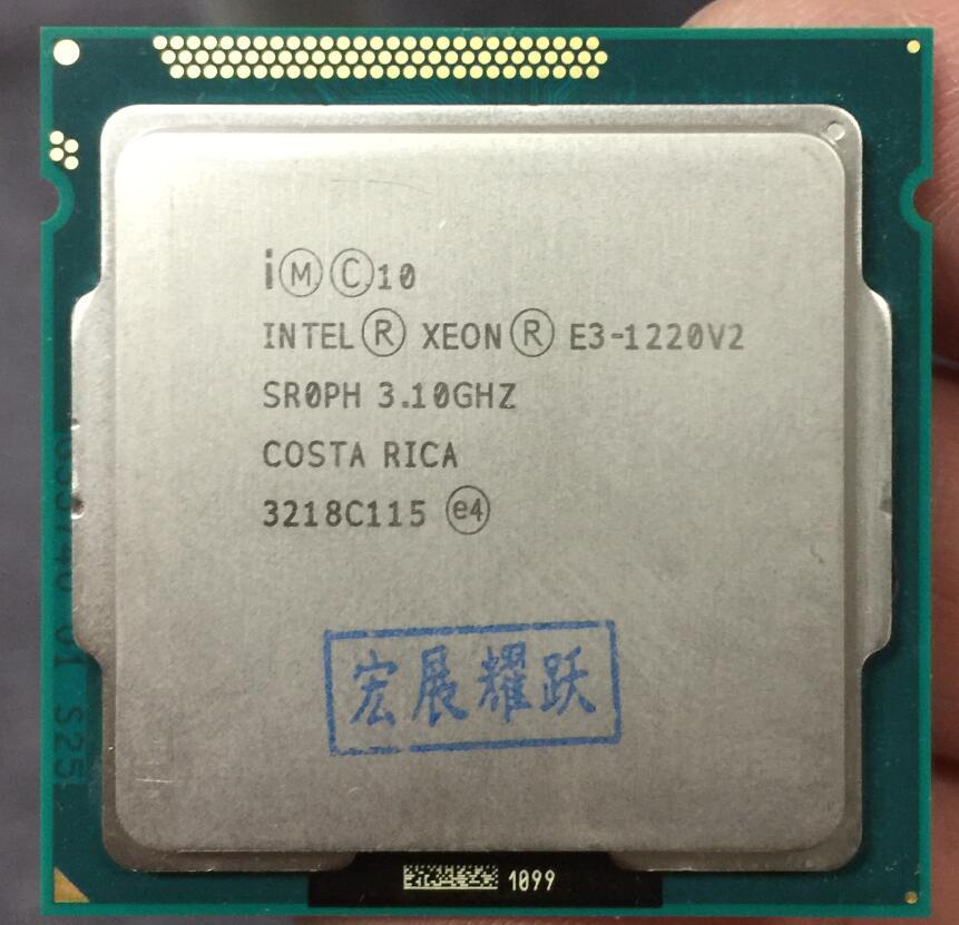 Processeur Intel Xeon E3-1220 v2 E3 1220 v2 (Cache 8 M, 3.1 GHz) processeur Quad-Core LGA1155 PC ordinateur de bureau CPU