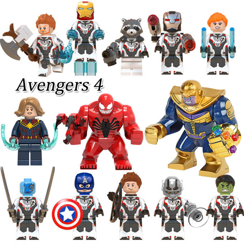 Avengers 4 Endgame Thanos Building Block กัปตัน Marvel Iron Man Venom Thor คิดบล็อกของเล่นเด็ก Dropshipping
