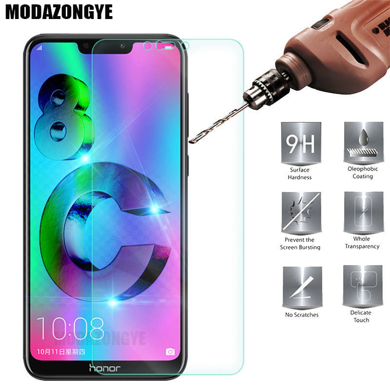 Screen Protector Huawei Honor 8C Tempered Glass Huawei Honor 8C Honor8C 8 C BKK-L21 Protective Film Glass Honor 8C 6.26 Inch