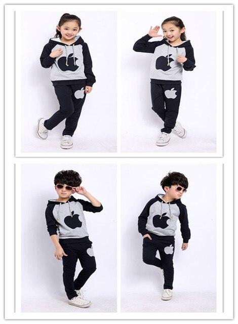 2015  Girls& boys set Spring/autumn sport suits AM boy hoodies coat +pant Kids casual sets Children clothing set