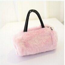 Free shipping summer new Plush bag laptop tide handbag cute imitation rabbit hair fur women Messenger