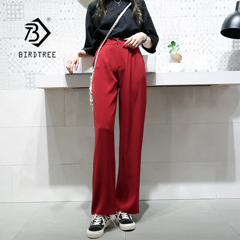 2019 New Fashion Spring Solid Wide Leg Loose High Elastic Waist Pockets Full Pants Buttom Lengthen Casual Hot Sale B93004h We Take Customers As Our Gods Pants & Capris