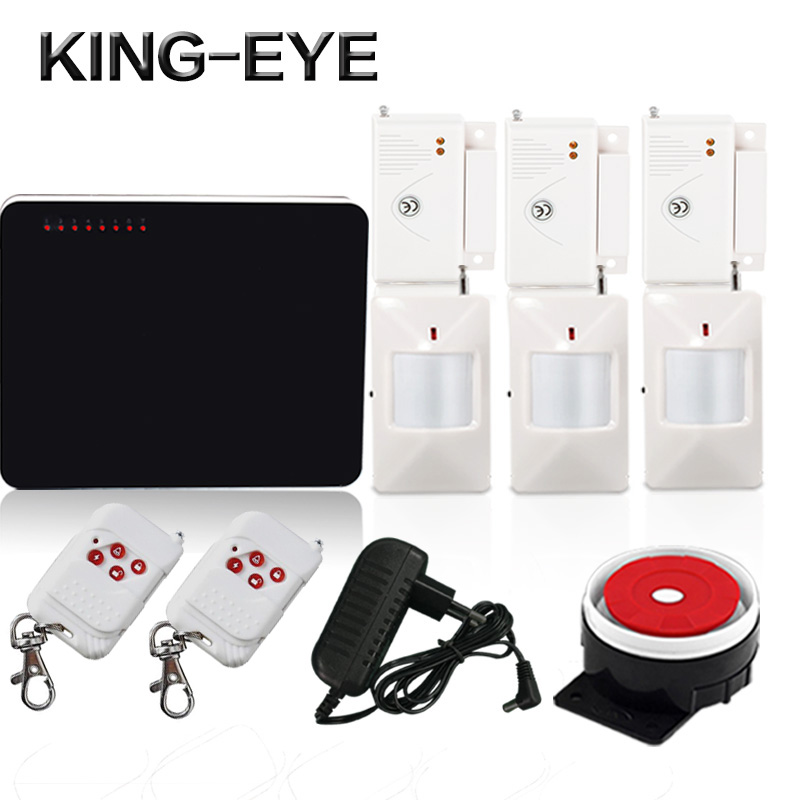 433 mhz wireless gsm alarm security system kit home alarm 6 wireless and 4 wired zones with PIR motion sensor magnet door sensor wireless pager system 433 92mhz wireless restaurant table buzzer with monitor and watch receiver 3 display 42 call button