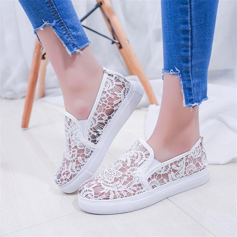 Zapatos de las mujeres Pisos 2017 Zapatos de Moda Casual Mujer Slip on Flat Cord