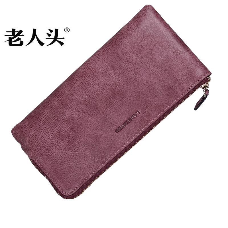 LAORENTOU brand women genuine leather wallets clutch bag purse quality genuine leather bag simple fashion lovers long wallet baellerry small mens wallets vintage dull polish short dollar price male cards purse mini leather men wallet carteira masculina