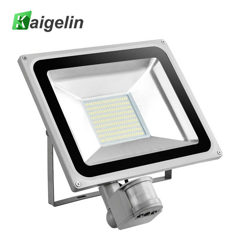 100W PIR Infrared Motion Sensor Flood Light AC 220V-240V 11000LM PIR Infrared Sensor Floodlight LED Lamp For Outdoor Lighting