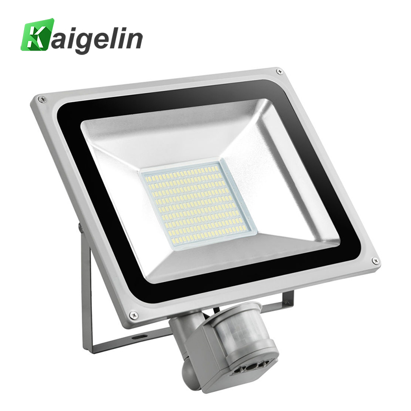 100W PIR Infrared Motion Sensor Flood Light AC 220V-240V 11000LM PIR Infrared Sensor Floodlight LED Lamp For Outdoor Lighting new safurance 15w led infrared pir sensor ceiling mount lamp light ac110 265v for room building automation home security