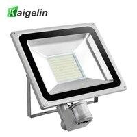 100W PIR Infrared Motion Sensor Flood Light AC 220V 240V 11000LM PIR Infrared Sensor Floodlight LED Lamp For Outdoor Lighting