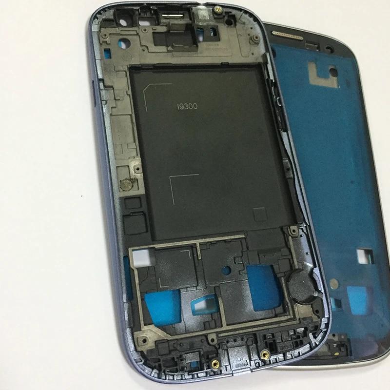 10 pcs/lot D'origine Avant de Logement Pour samsung Galaxy S3 i9300 Plat Moyen Cadre Réparation des Logements Pièces noir/blanc/bleu