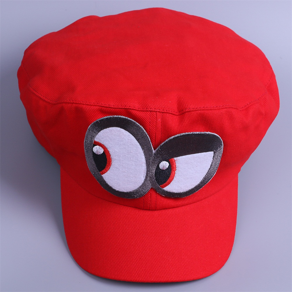 Game Super Mario Odyssey Cap Cosplay Red Mario Hat Adult Kids Halloween Prop New2