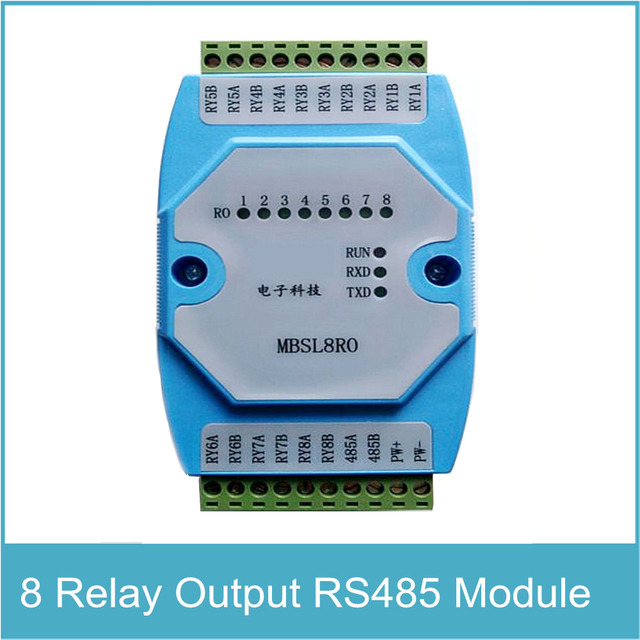 8RO Modul 8 Kanäle Relaisausgang Isoliert RS485 Modbus RTU protokoll ...