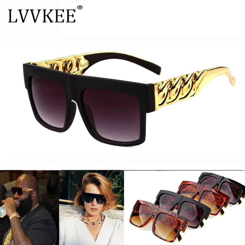 6da362dfb20c Detail Feedback Questions about Celebrity Inspired Gold Chain mens Sunglasses  Vintage Hip Hop Style Kim Kardashian Beyonce womens Sun Glasses Oversized  ...