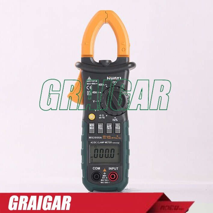 MS2008A Numérique AC Current Clamp Meter Multimètre AC DC Résistance Tension Testeur