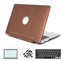 RYGOU Premium PU Leather Coated PC Hard Case With Keyboard Cover Screen Protector For MacBook Air