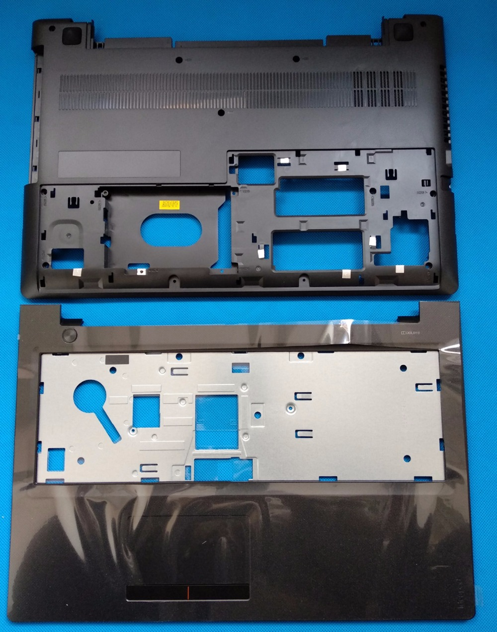 New Original Lenovo Ideapad 300-15 300-15ISK Bottom Base Case Cover & Palmrest top case Upper Case With Touchpad Board new original orange for lenovo u330 u330p u330t touch bottom lower case base cover lz5 grey 90203121