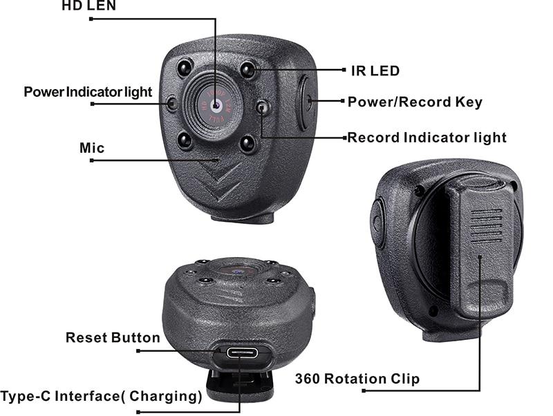 HD-1080P-Police-Body-Lapel-Worn-Video-Camera-DVR-IR-Night-Vision-LED-Light-Cam-4 (5)