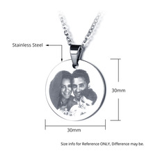 Personalized Engraved Photo Tag Necklace