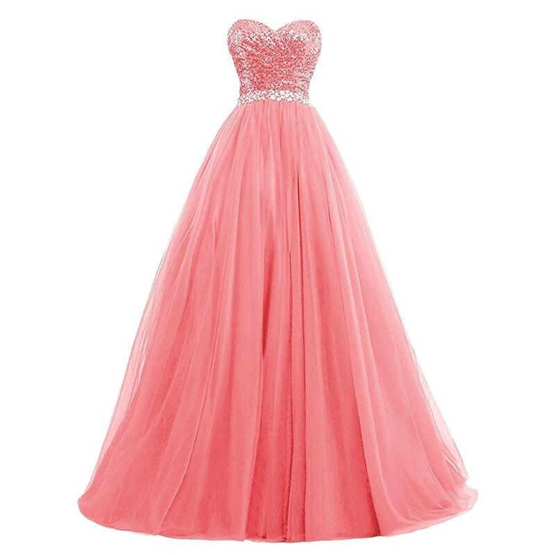 Multi Color   Prom     Dresses   Sweetheart Sequins vestidos de Formal Gowns Royal Blue Mint Green Burgundy Long Formal Party   Dresses
