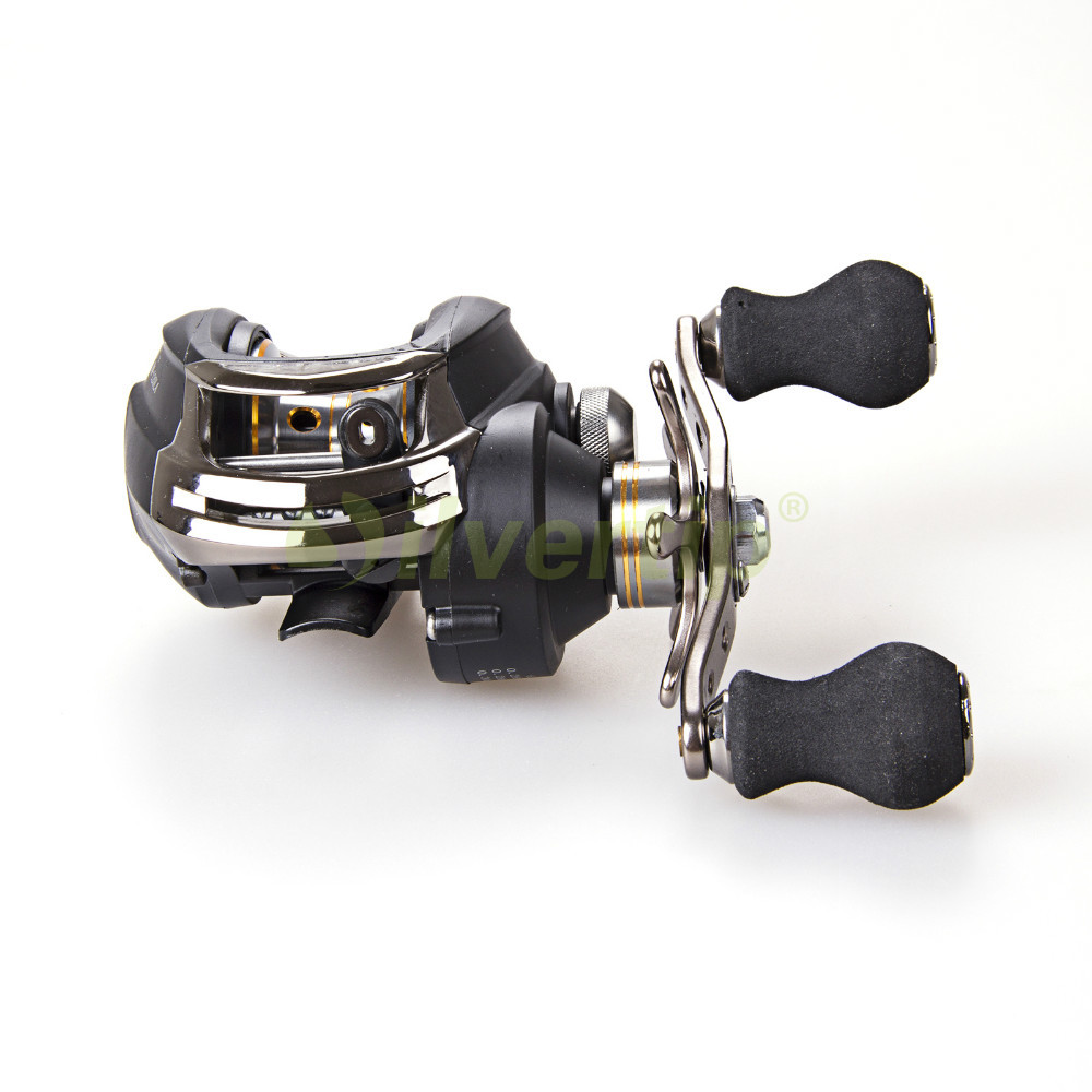 ФОТО Free Shipping 12 BB 6.3:1 Left Hand Baitcasting Fishing Reel Bait Casting Baitcast Reels Black Dynamic DM120