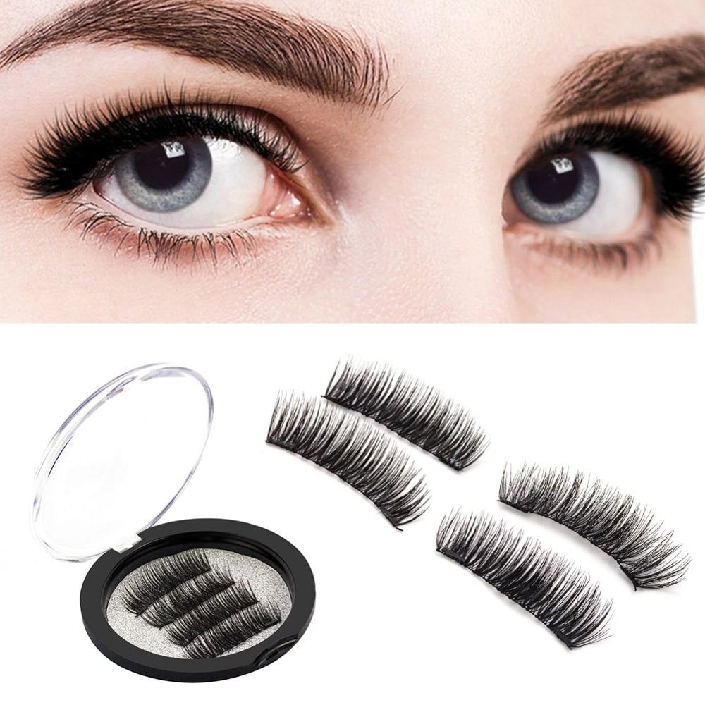 2f749d46330 False Eyelashes Beauty Essentials Hearty Handmade 1 Pair 3d Double Magnetic False  Eyelashes Makeup Reusable Natural Full Strip Fake Magnet Eye Lashes ...
