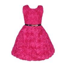 2016 Vestido Infantil Girl Flower Wedding Party Dress Floral Children Wedding Dress Baby Wear for 2-7Y Hot Sale