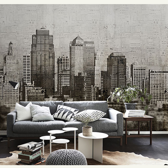 Vintage Building Black and White City Mural 3d Wall Photo Murals Wallpaper Background Large Papel Mural 3d Wall Mural Wall Paper