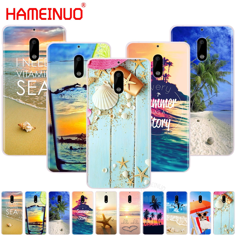 HAMEINUO Summer Beach Relax Starfish cover phone case for Nokia 9 8 7 6 5 3 Lumia 630 640 640XL 2018