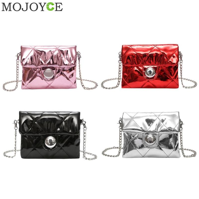 Hologram Bags Women Mini Pure Handbag Laser Bag Sequins Mirror Party Chain Crossbody Bag for Female Girl Messenger Shoulder Bag