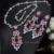 Las Mujeres africanas Plateado Cubic Zirconia Piedra de Lujo Súper Collar Pendientes Largos Declaración Sistemas de La Joyería Para La Boda JS208