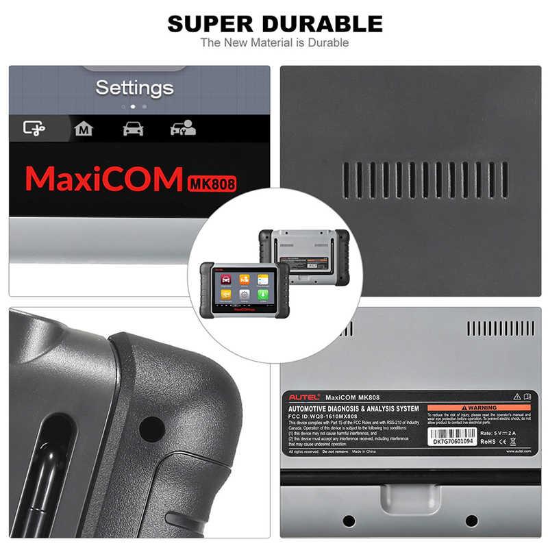 Autel Maxicom MK808 OBD2 Auto Diagnostic Tool Obd 2 Automotive Scanner Immo Epb Sas Bms Tpms Dpf Service Pk MD802 maxicheck Pro