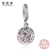 Tendy 100 925 Sterling Silver Dragonfly Butterfly Charm Fit Original Pandora Bracelet Pendants Authentic DIY Jewelry