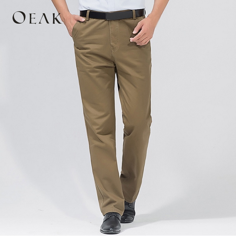 f509d3724be OEAK Autumn Solid Loose Straight Men s Casual Pants Long Trousers High  Waist Pants Men Plus Size Cotton pantolon erkek in Pakistan
