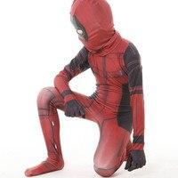 カーニバル着ぐるみキッズ子供3dプリントデッドプールレオタードタイツジャンプスーツアメリカヒーローコスプレ衣