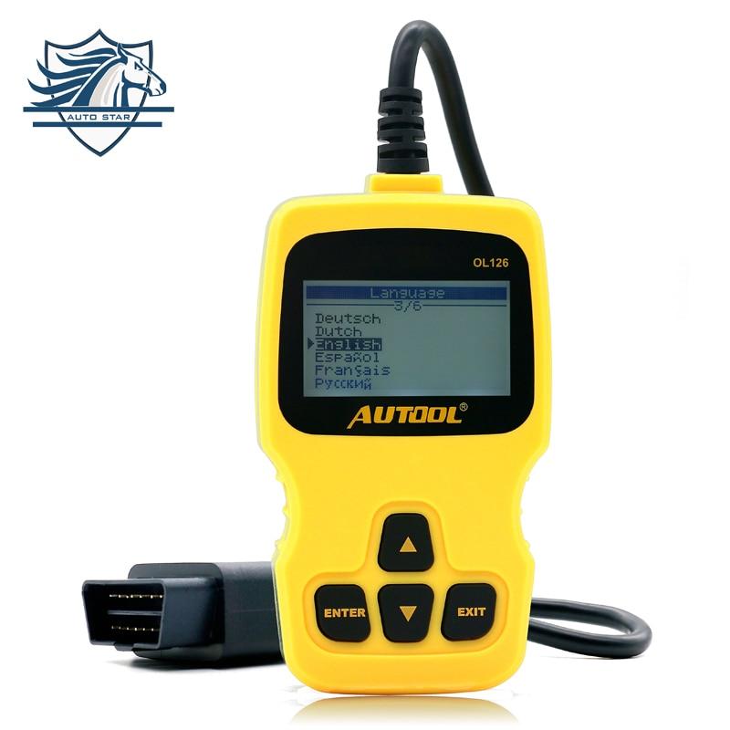 Цена за Автоматический диагностический сканер autool OL126 OBD/EOBD Двигатели код ошибки чтения автомобиля диагностики сканирования автомобильной инструмента превышать Autel AL319