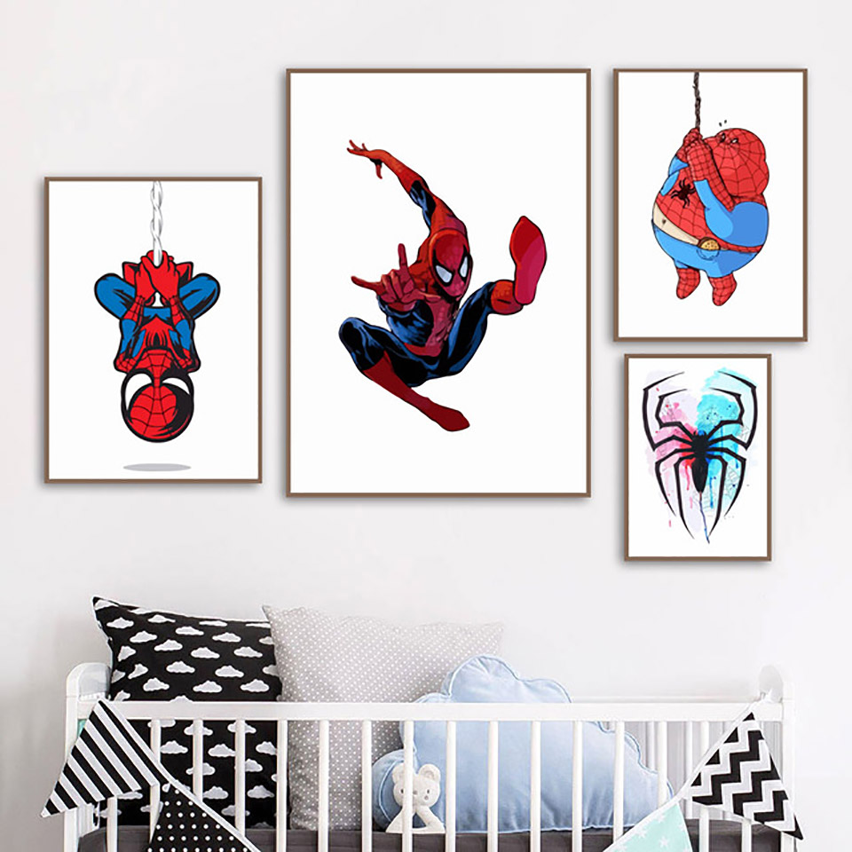 Into the Spider-Verse Canvas Home Decor Wall Art Framed 12x16 Spider-Man