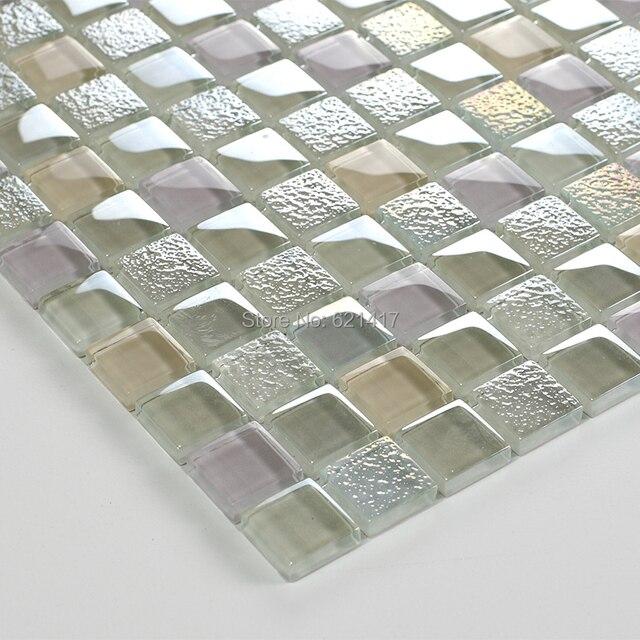 Piazza trasparente brillante in vetro mosaico backsplash cucina ...