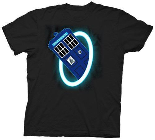 Doctor Who Time Warp Mens Black T-Shirt