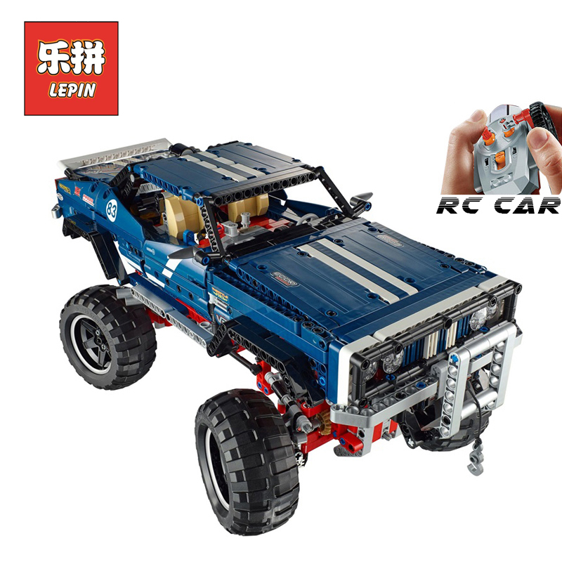 lepin 20011 Technic Series Remote Control Electric off-road Vehicles Set DIY Model Car Building Kits Blocks Bricks Children Toys building rc car off road vehicle building toy bricks technic remote control toys for boys model car kids fun toy gift children