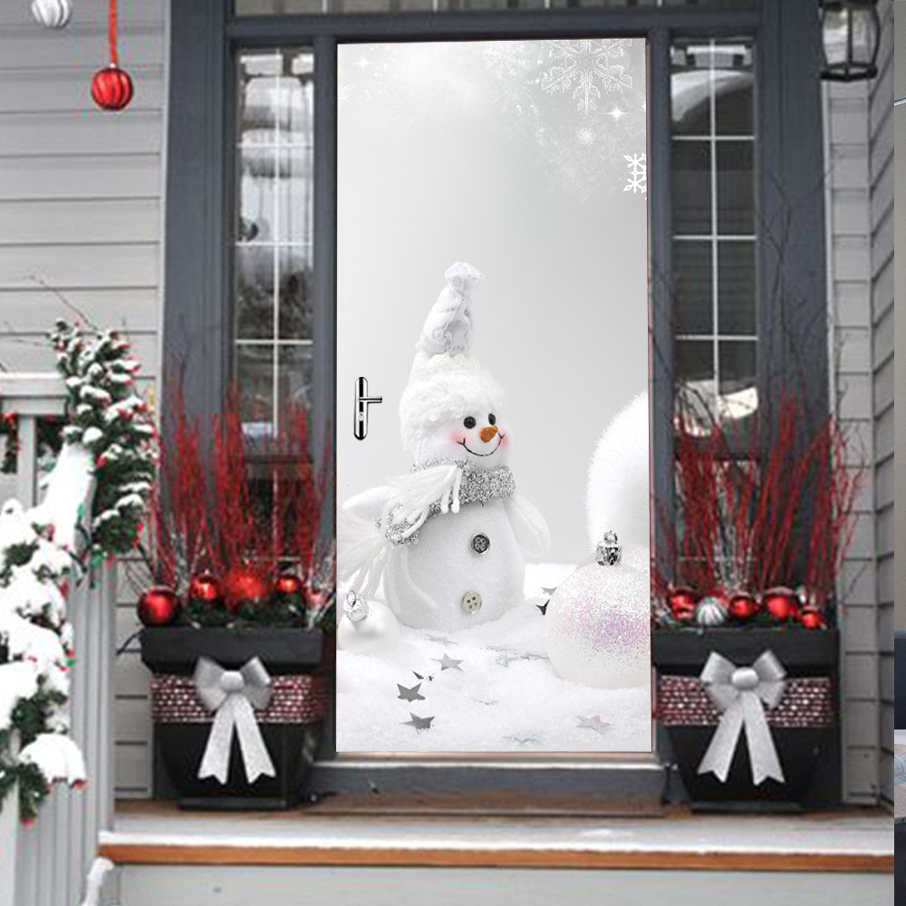 Christmas Present Door Cover: Wholesale Home Decorations For Christmas Xmas Snowman Door