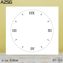 AZSG Clock Clear Stamps/Seals For DIY Scrapbooking/Card Making/Album Decorative Silicone Stamp Crafts