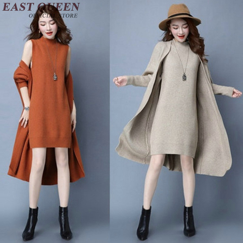 Women winter sweater dress Plus Size Woman Sweater Dress winter Dress Female Knittied KK1485 H
