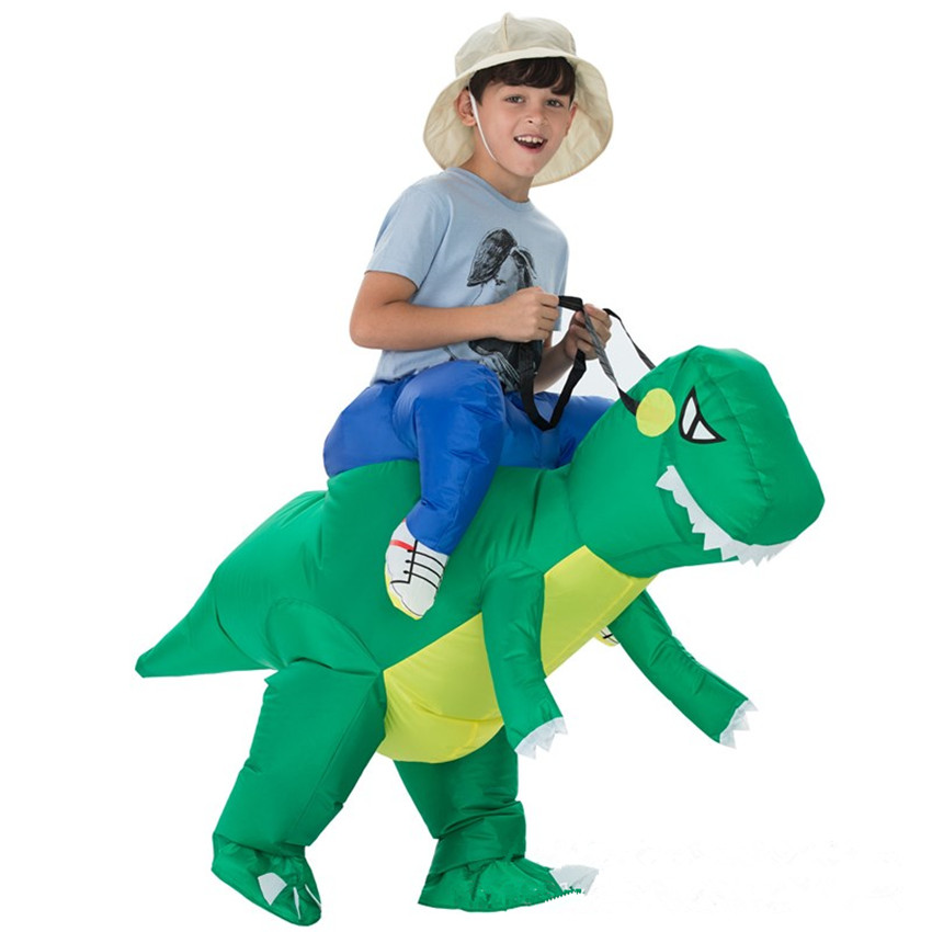 1PC Inflatable Dinosaur Costume Toy Halloween Costumes Inflatable Games Kids Outdoor Toys Funny Costumes Animal Cosplay Prop