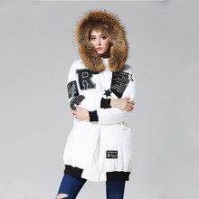 2016 winter Jacket women down jackets White Duck down coat thicken Hooded Fur collar women's down coat winter outerwear Parka