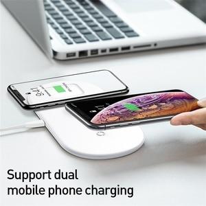 Image 2 - Baseus 3 in 1 Qi Drahtlose Ladegerät Für Apple Uhr für iPhone XS X Samsung S10 10W 3,0 Schnelle lade Für ich Uhr und Kopfhörer