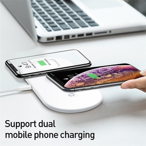 Image 2 - Baseus 3 in 1 Qi Wireless Charger For Apple Watch for iPhone XS X Samsung S10 10W 3.0 Fast Charging For i Watch and Headphone