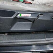 Для Octavia Специальной нержавеющей стали ручка ярлык/патч цвет сидений лифт ключ декоративные наклейки стайлинга автомобилей 2 шт./лот(China (Mainland))