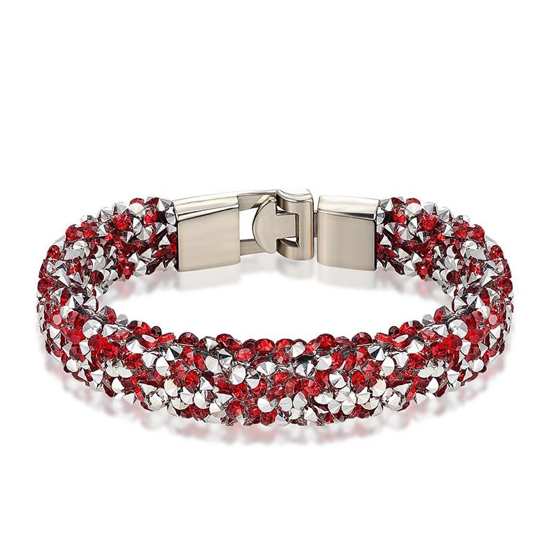 JANEYACY 2017 Nouvelle Mode Casual Cristal Bracelet Bracelet Charme Bracelet Des Femmes Meilleur Bracelet de Bijoux