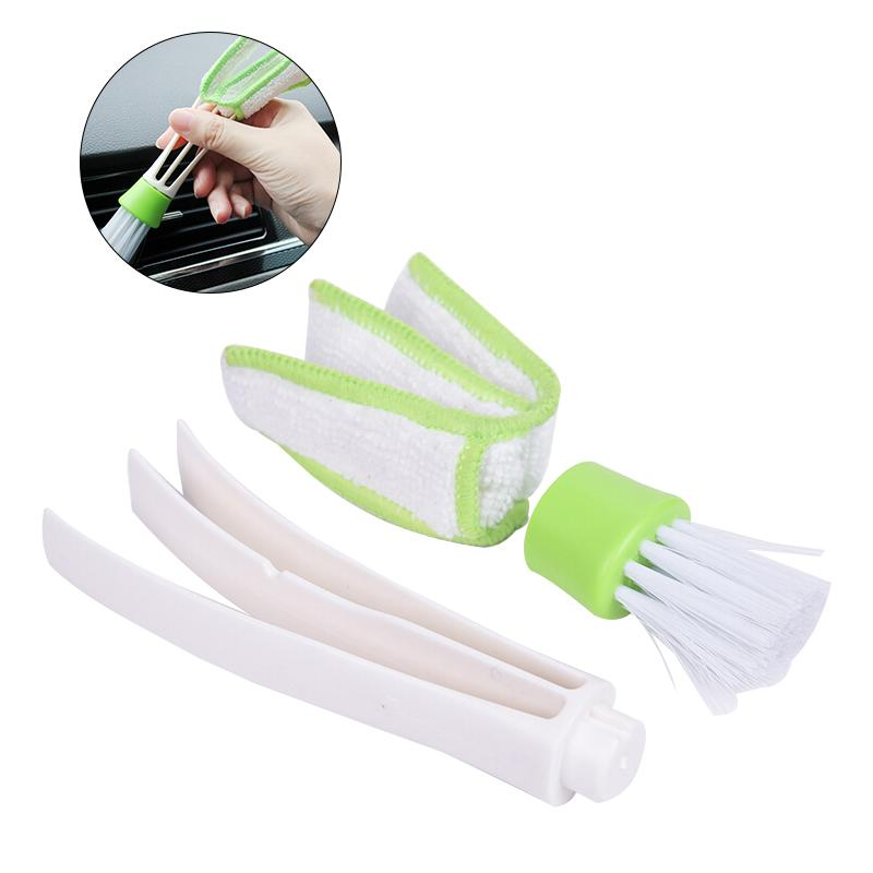 Mini Duster Double Ended MicroFiber Vent Duster Brush for Car Air Outlets Cleaner with Portable Precision Dusting Tool