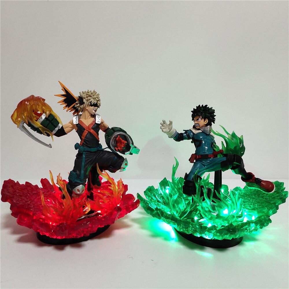 My Hero Academia Lampara Led Lighting Bakugou Katsuki VS Midoriya Izuku Figure Led Night Light Anime Boku No Hero Academia Lamp